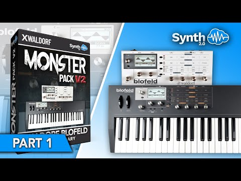 S4K Monster Pack on waldorf Blofeld demo PART 1 ( Leads Fx Synth Organs Mellotron Pads )