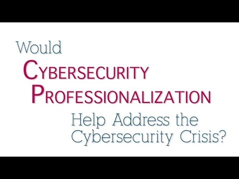Would Cybersecurity Professionalization Help Address the Cybersecurity Crisis?