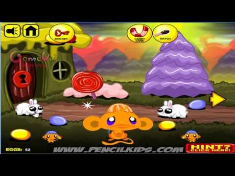 Hướng dẫn chơi game Chú khỉ buồn 14 - MONKEY GO HAPPY EASTER