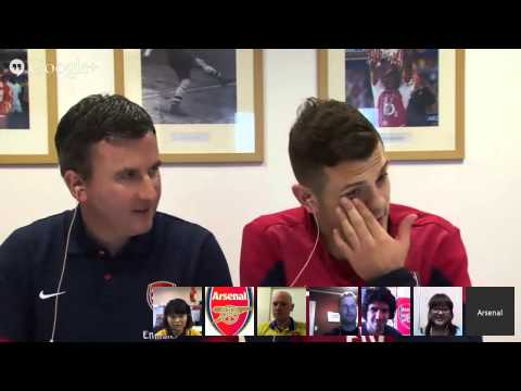 Arsenal FC - Google+ Hangout with Jack Wilshere