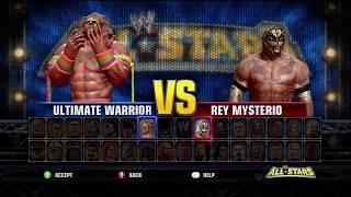WWE All Stars Demo Ultimate Warrior Vs. Rey Mysterio Jr