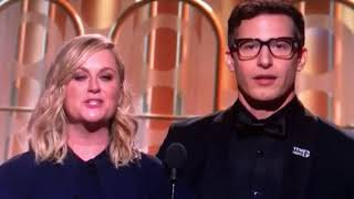 Amy Pohler & Andy Samberg present Golden Globe Award