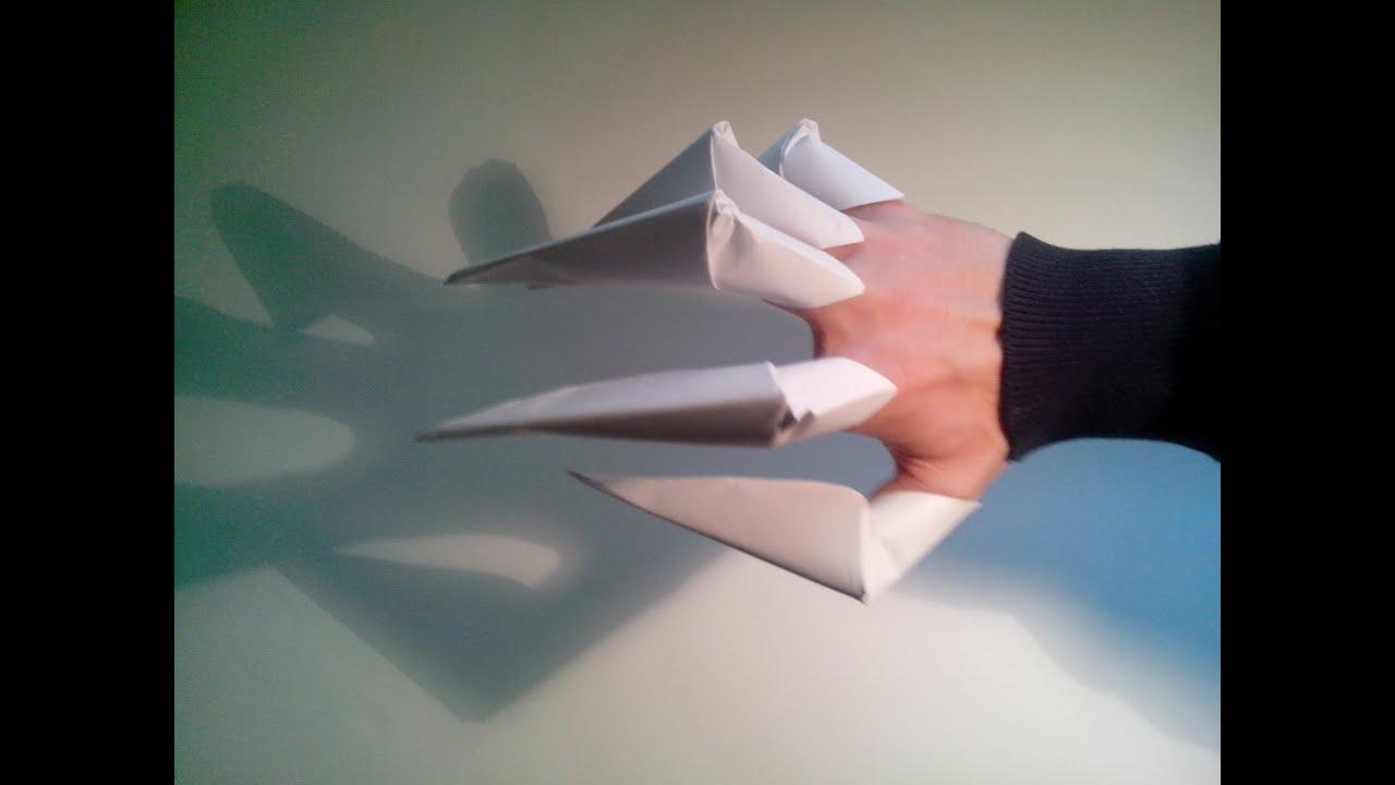 Como hacer unas garras de papel origami youtube for Como hacer criadero de truchas