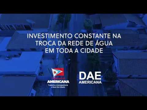 Video  - A Prefeitura de Americana e o DAE estão modernizando o sistema de distribuição de água da cidade.