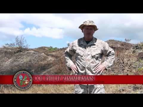 Marines visit WWII defensive positions