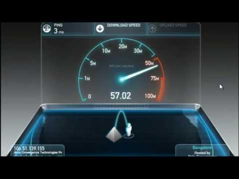 Fastest internet speed in India Bangalore