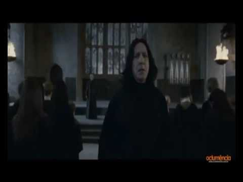 Severus Snape vs. Harry Potter in Great Hall-Harry Potter and the Deathly Hallows Part 2.