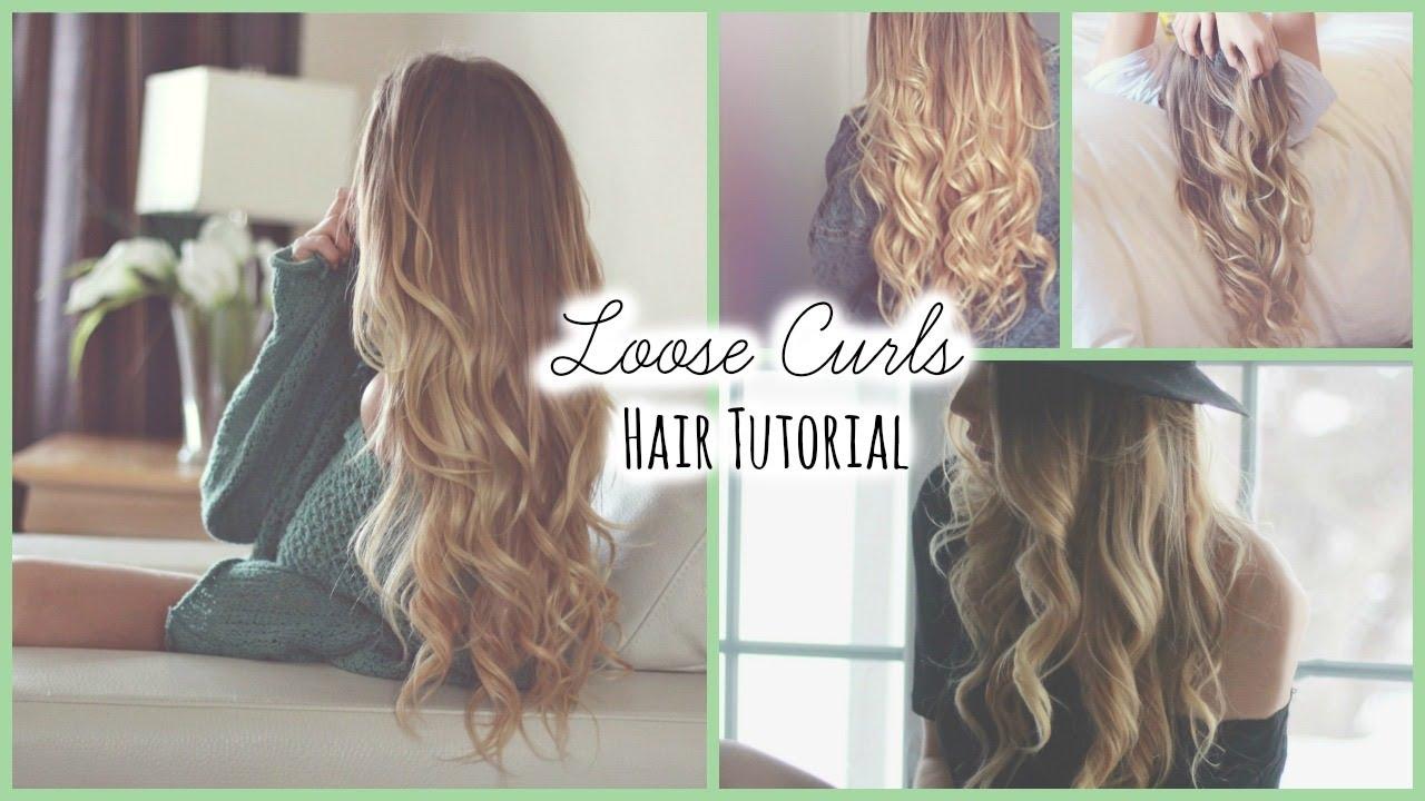 Loose Curls ♡ Hair Tutorial - YouTube