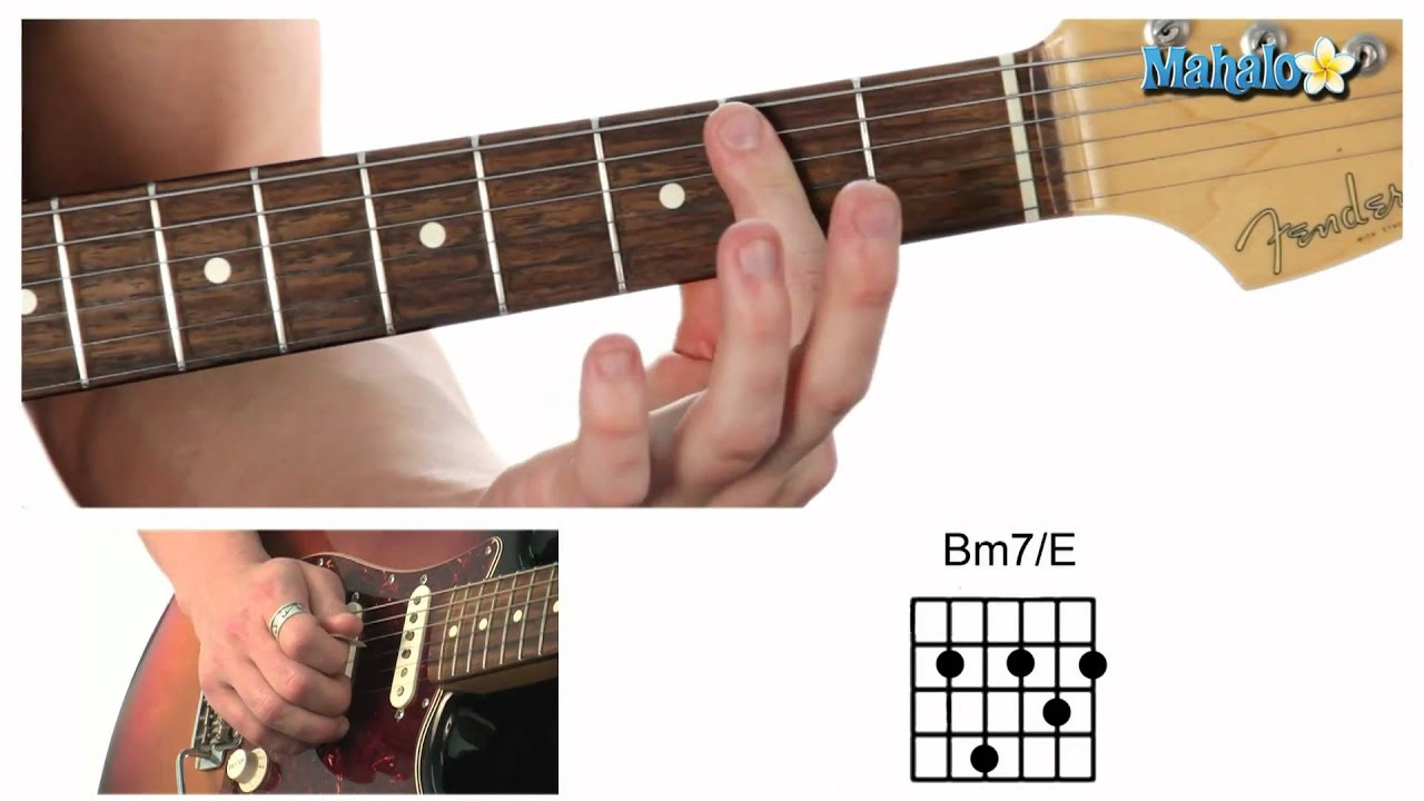 How to Play a B Minor Seven Over E (Bm7/E) Chord on Guitar - YouTube