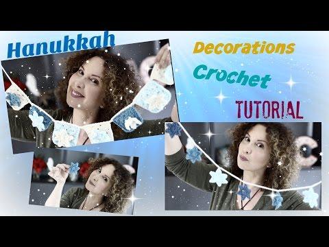 Easy Hanukkah Crochet  decorations