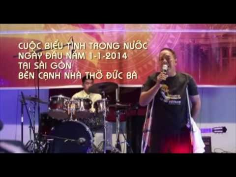 Cuộc Biểu Tình tại Sài Gòn Ngày đầu năm 1-1- 2014