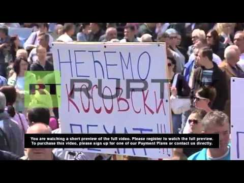 Serbia: Serbs in Mitrovica say no to Kosovo agreement
