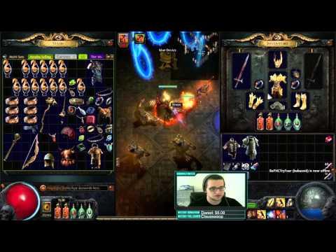 [Path of Exile] Oro's Sacrifice Flicker Strike Elementalist Prolif Witch!