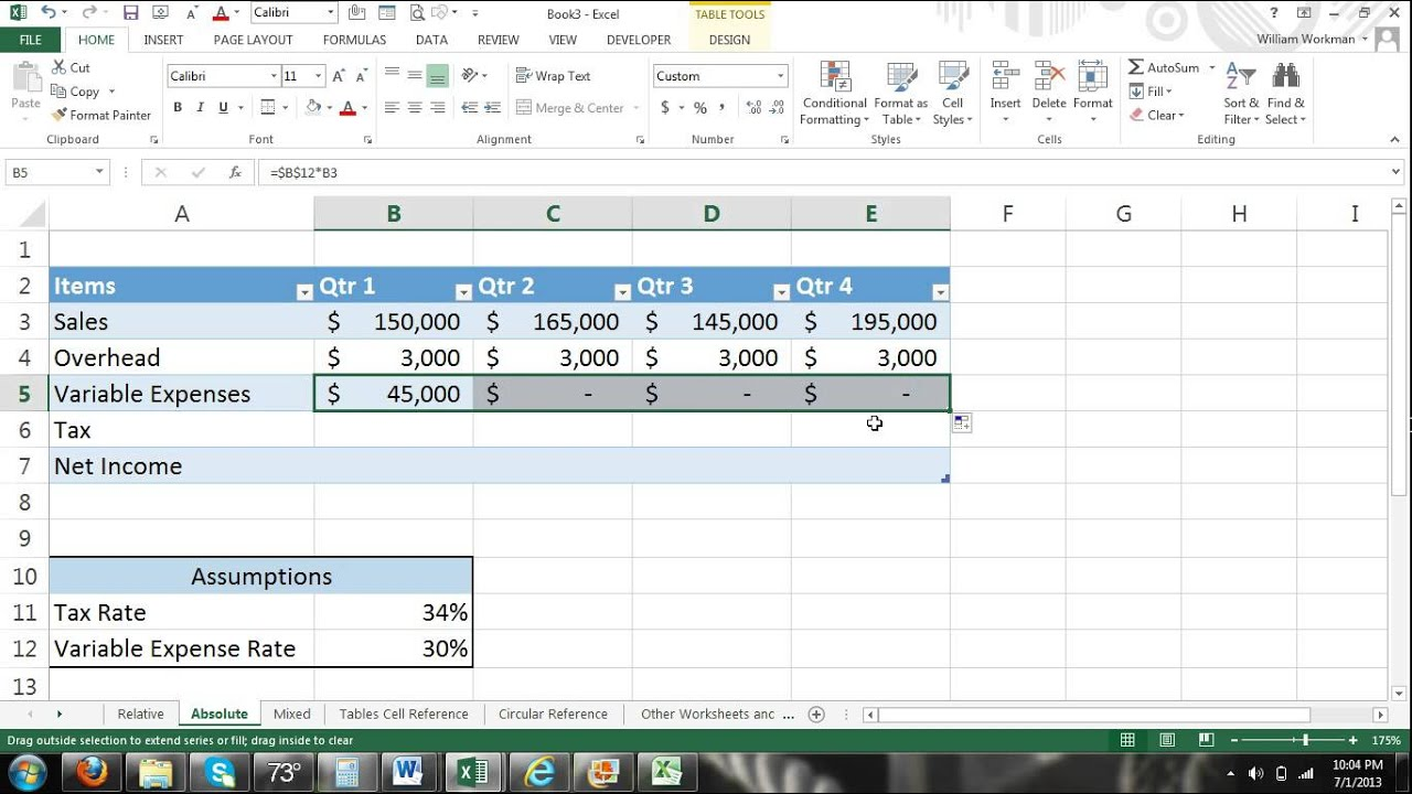 how to delete circular reference in excel