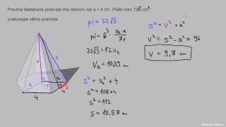 Šeststrana piramida – višina 2