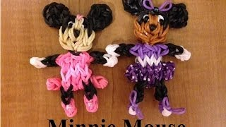 Rainbow Loom Minnie Mouse Doll Or Charm