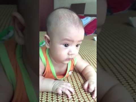 Lê Minh Khôi 4 tháng tuổi ( P2 )