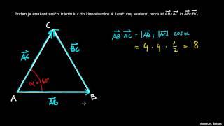 Skalarni produkt – primer 3