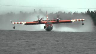Bombardier Water Bomber pick up and water drop