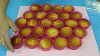 Cómo Hacer Una Tarta De Cupcakes O Quequitos. 1ª Parte