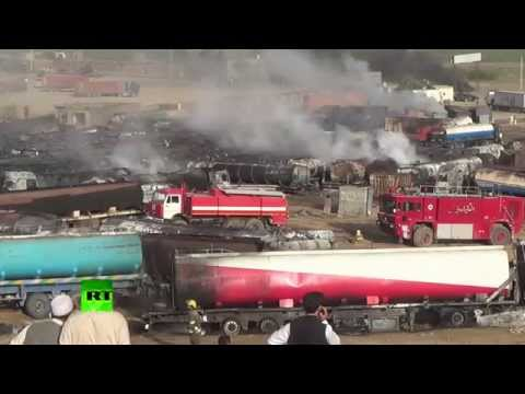 400 fuel tankers set on fire near Kabul