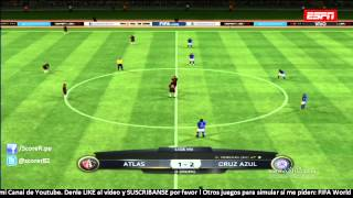 Atlas Vs Cruz Azul Jornada 9 Liga MX 2014 @ FIFA 15
