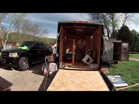 New 6x10 Enclosed Trailer Conversion Project For More  Stealth Camping