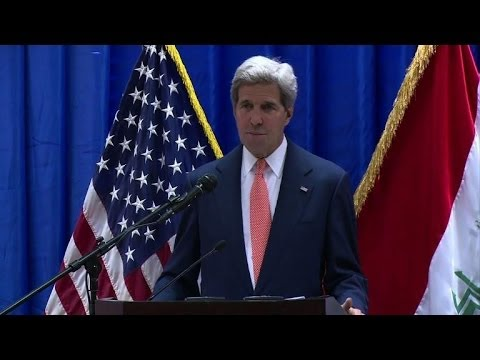 Kerry backs Iraq against 'existential' militant threat