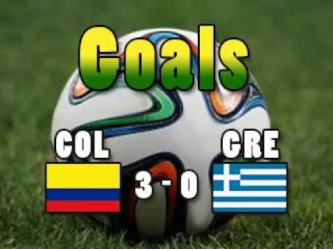 Goals COLGRE Colombia 3 Greece 0 ARMERO GUTIERREZ RODRIGUEZ CM2014 Wordcup20