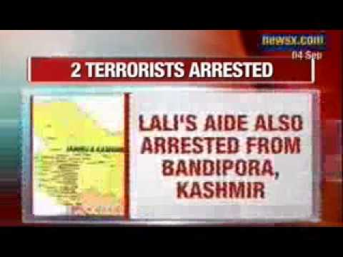 NewsX : Top Hizbul Mujahideen commander Talib Lali arrested