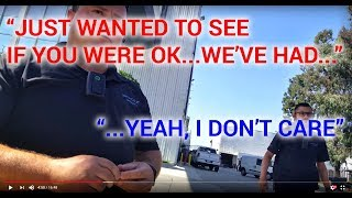 """SPACEX First Amendment audit.  """"Just wanted to see if you're ok, we've had..."""""""