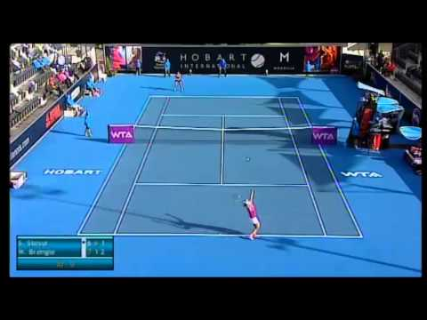 Samantha Stosur vs Madison Brengle, Hobart International 2014 - Highlights