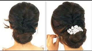 ★ 5MIN EASIEST PARTY UPDO EVERYDAY BRAIDED BUN PROM