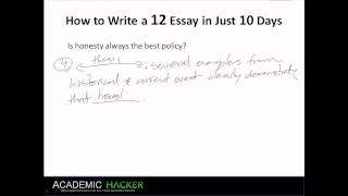 Academichacker s How To Write A    Essay In Just    Days   image