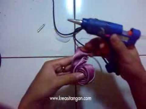 Cara Membuat Mawar Pita Organdi