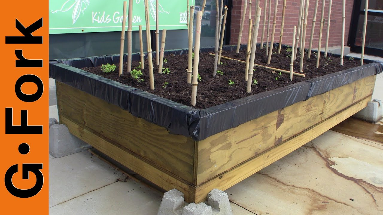 Raised Bed Plans For Gardening On Cement Schoolyards Or