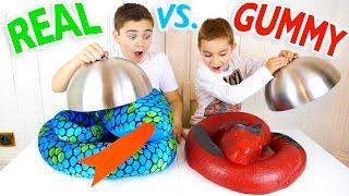REAL VS GUMMY FOOD CHALLENGE - Trucs réels ou Bonbons ?