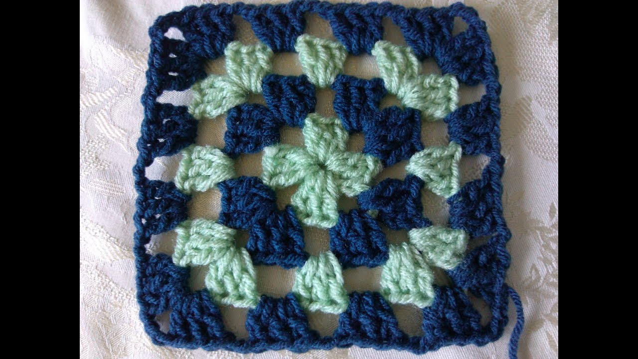 Crochet Stitches Granny Square Youtube : Easy to crochet classic granny square - YouTube
