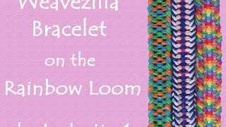 New Weavezilla Bracelet Rainbow Loom, Crazy Loom, Fun
