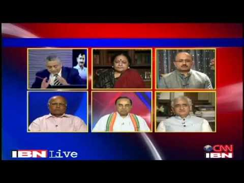 Debate on CNN-IBN About Robert Vadra - Subramanian Swamy
