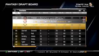 Madden 25 Offline Connected Careers #1: Fantasy Draft 1st