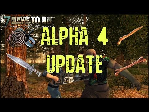 7 Days to Die Alpha 4 Update - Hunting Knife, Bone Shiv, Femur Club, Block Rotating and More!