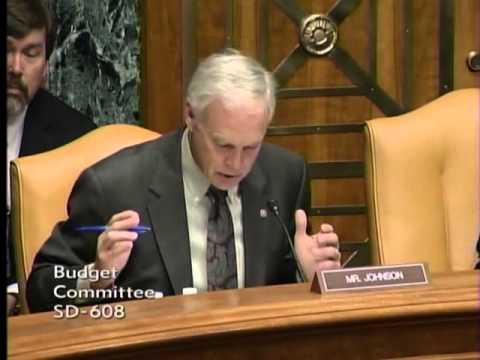 Senator Johnson at the Budget Committee