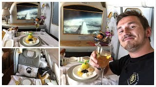 FLYING FIRST CLASS with EMIRATES! (Showering on a Plane!)
