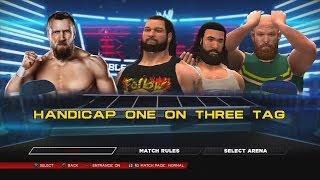 WWE 2K14 Daniel Bryan Vs The Wyatt Family TLC