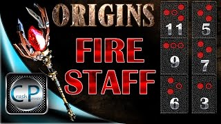 Fire Staff ORIGINS Zombies HOW TO BUILD AND UPGRADE