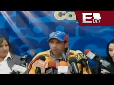 Henrique Capriles: Gobierno terco por seguir con violencia  / Ricardo Salas y Gwendolyne