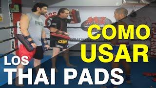 Uso correcto de los Thai Pads como parte del entrenamiento de Muay Thai