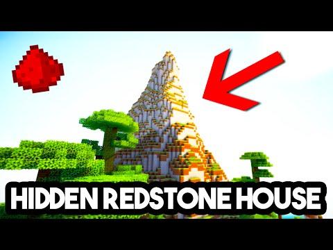 MCPE 0.15.1+ REDSTONE HIDDEN BASE (Redstone Piston House)