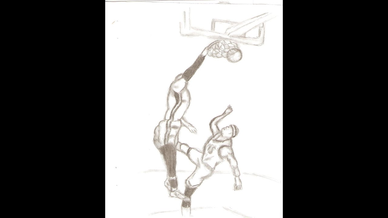 Lebron Dunking Drawing Drawings of Lebron James